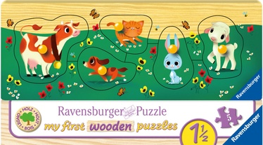 Ravensburger My First Wooden Puzzle Farm Animals 5pcs 032358