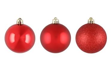 Ziemassvētku eglītes rotaļlieta Winteria, sarkana, 60 mm, 9 gab.