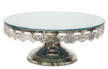 Home4you Eva Mirror Cake Stand 30.5cm Silver