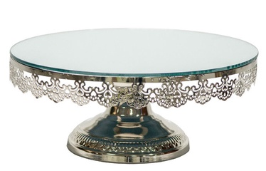 Home4you Eva Mirror Cake Stand 30.5cm Silver