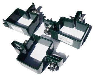 Staba apskaves 40x60 mm, centrālā RAL8017
