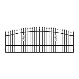 Polargos Palermo Double Gates 400x150cm Black