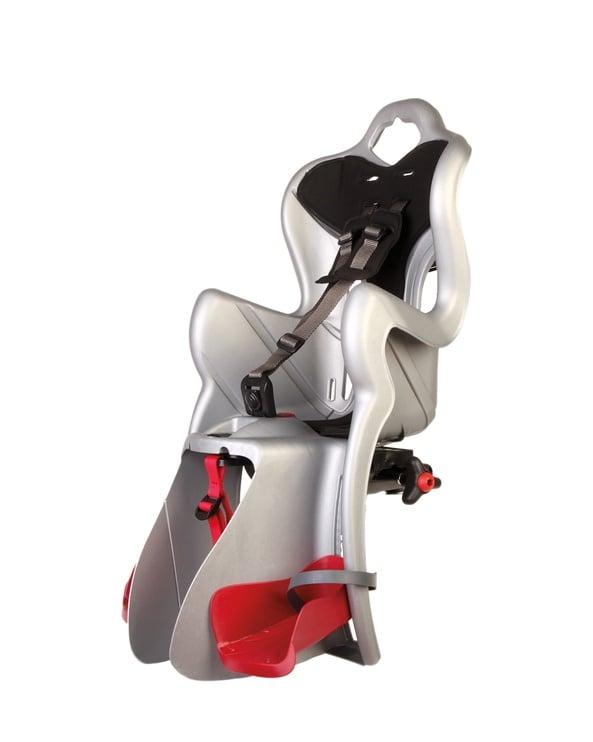 Детское кресло для велосипеда Bellelli B-One 01B1M00007, серебристый, задняя