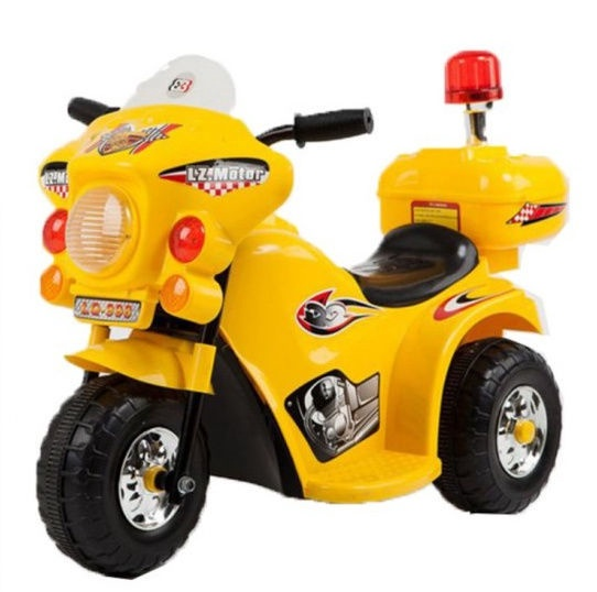 Childrens Motorcycle With Side Wheels Yellow WDLQ998