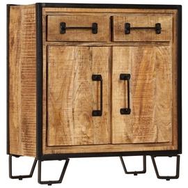 Шкаф VLX Solid Mango Wood, коричневый/черный, 65 см x 30 см x 70 см