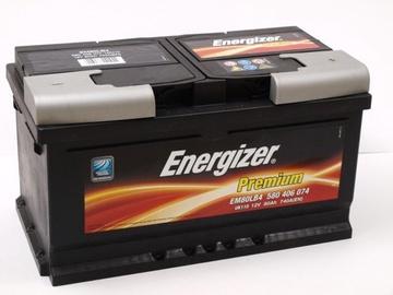 Аккумулятор Energizer Premium EM80LB4, 12 В, 80 Ач, 740 а