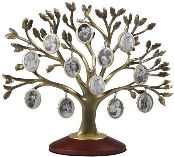 Poldom Photo Frame 12x Family Tree Gold