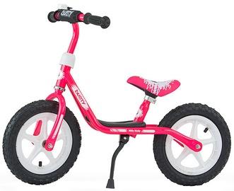 Vaikiškas dviratis Milly Mally Dusty 12'' Balance Bike Pink White 3326