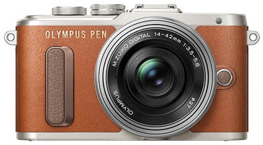 Olympus PEN E-PL8 + 14-42mm Brown Silver