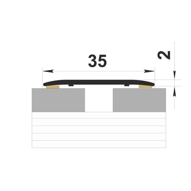 Jungiamosios juostos BC35, alksnio spalvos, 3,5 x 0,2 x 180 cm, 12 vnt.