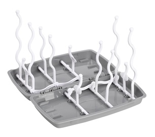 39fcbc58e8e BabyOno Universal Bottle And Teat Drying Rack Gray