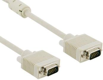4World SVGA Monitor Cable D-Sub Ferrite 3m Grey