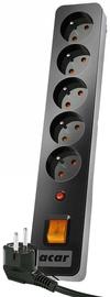 Acar Surge Protector X5 5 Outlet Black 1.5m