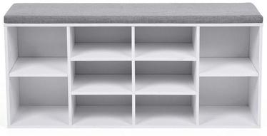 Batų spintelė Songmics, balta/pilka, 1040x300x480 mm