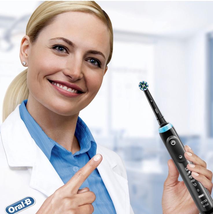 Электрическая зубная щетка Braun Genius X, черный