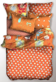 Gultas veļas komplekts DecoKing Basic, oranža, 155x220/80x80 cm