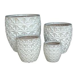 SN Ceramic Flower Pot IP17-790 D20cm White