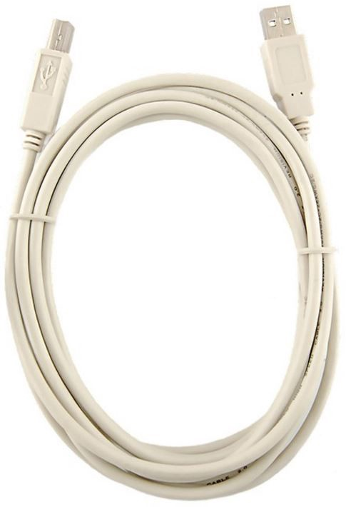 Qoltec Printer Cable USB to USB White 3m