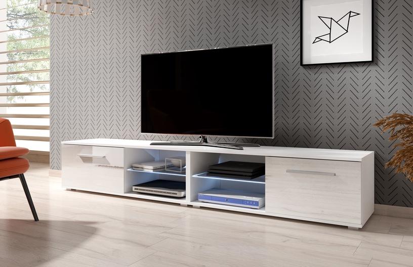 TV galds Vivaldi Meble Moon 2 Double, balta, 2000x400x360 mm