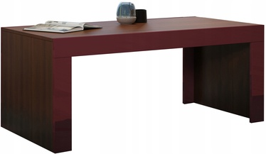Kohvilaud Pro Meble Milano Walnut/Red, 1200x600x500 mm