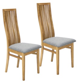Home4you Retro Chair 2pcs Gray/Oak