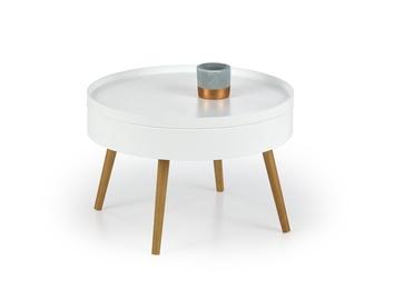 Kavos staliukas Starlet baltas, 60 x 60 x 40 cm