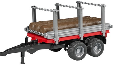 Bruder Timber Trailer With 3 Trunks 02213