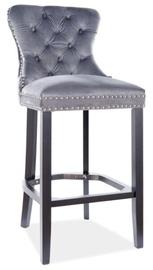 Bāra krēsls Signal Meble August H-1 Velvet, melna/pelēka