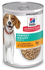 Hill's Science Plan Mature Adult Wet Food Perfect Weight w/ Chicken & Vegetables 363g