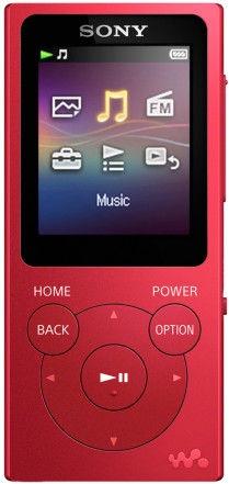 Музыкальный проигрыватель Sony NW-E394, красный, 8 ГБ