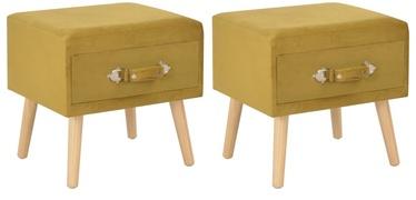 Ночной столик VLX Bed Side Mustard, желтый, 40x35x40 см