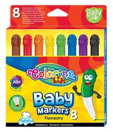 Laste vilpliiatsid baby markers 8 värvi 39576PTR