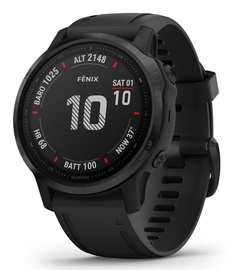 Garmin Fenix 6S PRO Black with Black Band with Maps Music