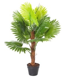 Home4you Fan Palm Artificial Plant H100cm Green