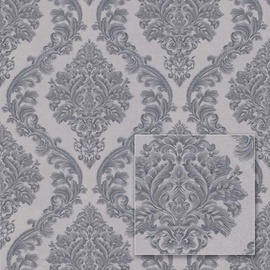 Tapetas flizelino pagrindu Sintra 540534 Valencia, pilkas, sidabrinis, klaiskinis raštas