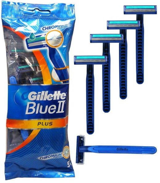Gillette Blue II Plus Disposable Razors 5Pcs