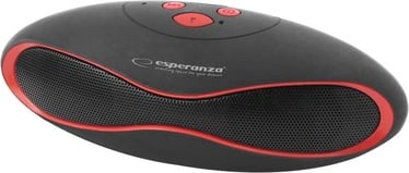 Belaidė kolonėlė Esperanza EP117KR Bluetooth Speaker Black/Red