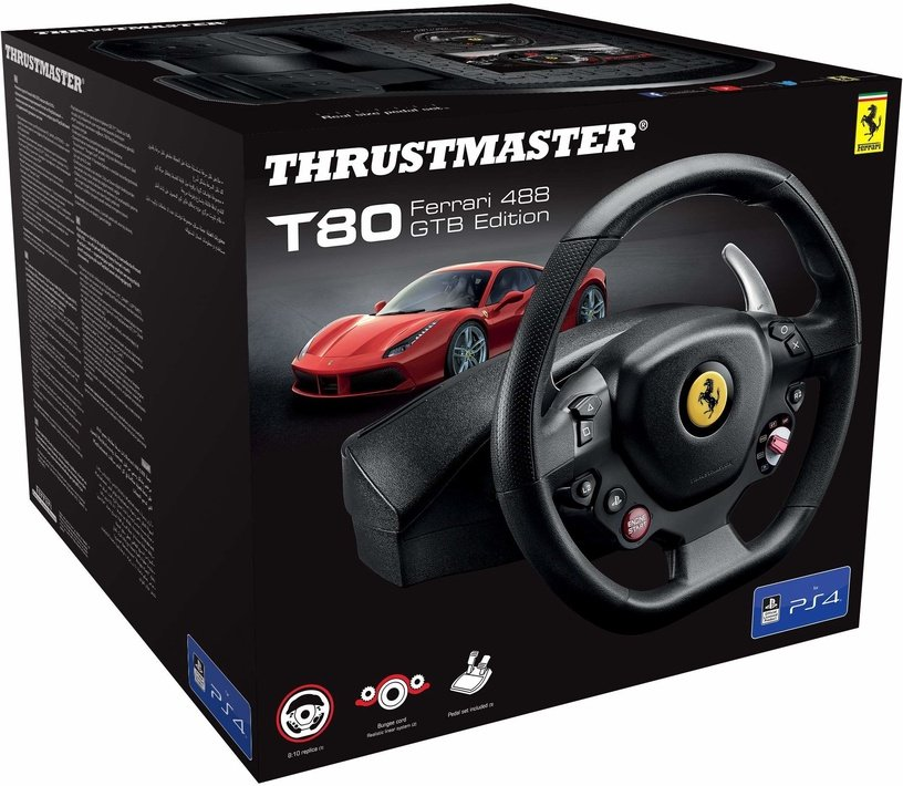 ThrustMaster T80 Ferrari 488 GTB Edition Wheel