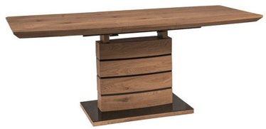 Pusdienu galds Signal Meble Leonardo Oak, 1400x760x800 mm