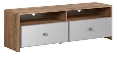 Black Red White Leda TV Cabinet Sibiu Larch/Silver