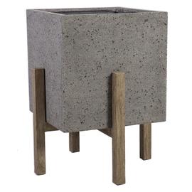 Home4you Sandstone Flowerpot 59.5x59.5x75cm Gray