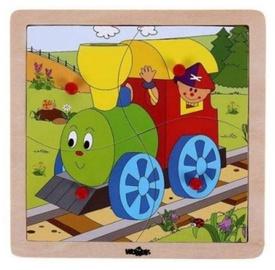 Puzle Woody Engine Educational 4 gab. 93017, 4 gab.