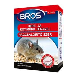 Химическое средство от вредителей Bros Rats/Mice Grain 120g