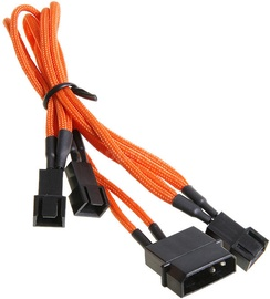 BitFenix Molex to 3 x 3pin Adapter 20cm Orange/Black