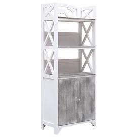 Шкаф для ванной VLX 284107, белый/серый, 24 x 46 см x 116 см
