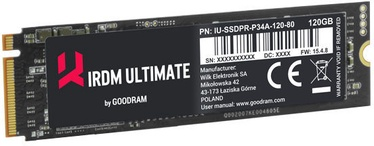 GoodRAM IRDM Ultimate SSD M.2 + HHHL Adapter 120GB PCIE IRU-SSDPR-P34A-120-80A