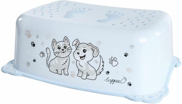 Подставка-ступенька Luppee Cat And Dog, синий