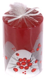 Verners Cylinder Candle 10cm Red
