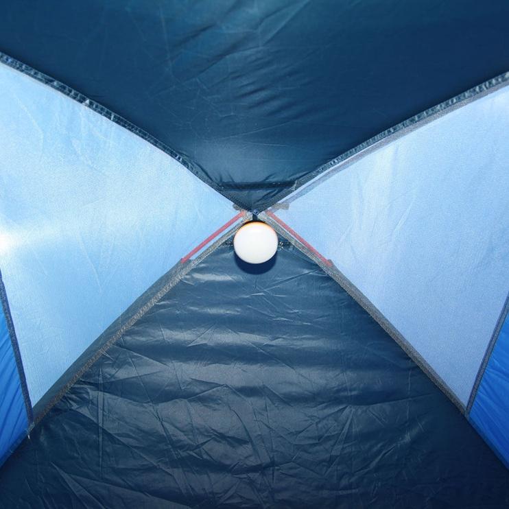 Četrvietīga telts High Peak 10164 Monodome 4, zila/pelēka