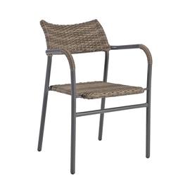 Home4you Bistro 3 Garden Chair Grey